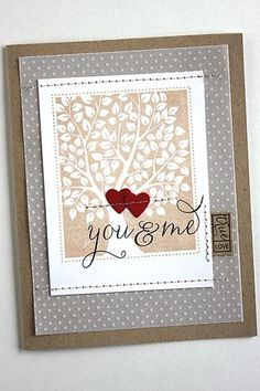 Love & Marriage Revisited: You & Me Card by Heather Nichols for Papertrey Ink (April 2015)
