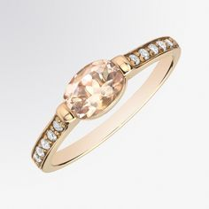 Morganite and Diamond Ring from Fifth Bond