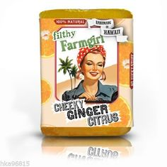 Cheeky Ginger All Natural Glycerin Large Bar Soap Grapefruit Oil Soy Protein