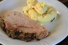 My Grandma's Recipe Box: Herb Crusted Pork Loin Ribeye Roast and Deviled Mashed Potatoes