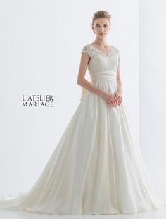19af448c2c134 L ATELIER MARIAGE(ラトリエマリアージュ) WHE026 レンタルウェディングドレス 大阪/東京/福岡