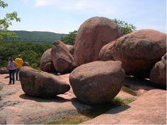 Elephant Rocks State Park in the Francois Mountains region (Ozark Mountains of Missouri), Belleview, Missouri