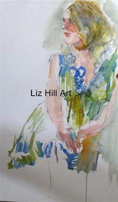 """Watercolor Sketch"" - Original Fine Art for Sale - © liz  hill"