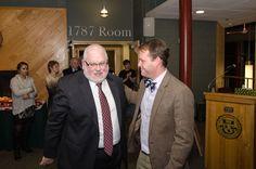 Tim Donovan and Vermont Tech President Dan Smith.