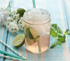 Sommerschorle mit Rosé, Tonic Water, Limette und Minze | repinned by @hosenschnecke♡