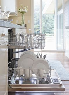 The sad truth is sometimes food gets stuck around your dishwasher's filter, which might make it smell. So about once a month, you should remove the filter, rinse it thoroughly, then run a cycle with a machine cleaner.