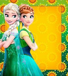 Fronzen Frozen Fever Party, Frozen Birthday Party, Sunflower Birthday Parties, Baby Girl Birthday Theme, Frozen Birthday Invitations, Frozen Theme Party, Bday Girl, Frozen Disney, Frozen Summer