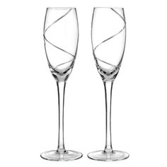 Hortense B. Hewitt Wedding Accessories Platinum Swirl Champagne Toasting Flutes, Set of 2 *** Click on the image for additional details.