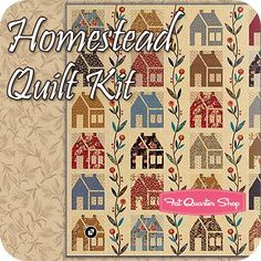 Homestead Quilt KitFeaturing Heart's Content by Laundry Basket Quilts