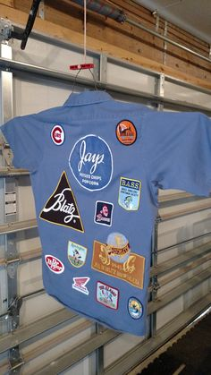 Hello Mr. Gomez! ...a genuine work shirt with great patches by CurvyGirlRanch on Etsy