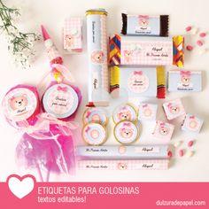 Osita nena Kit de etiquetas para golosinas