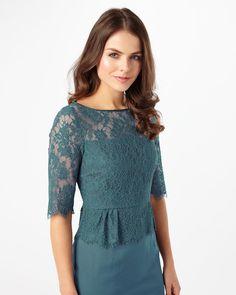Phase Eight Henriette Lace Dress Blue