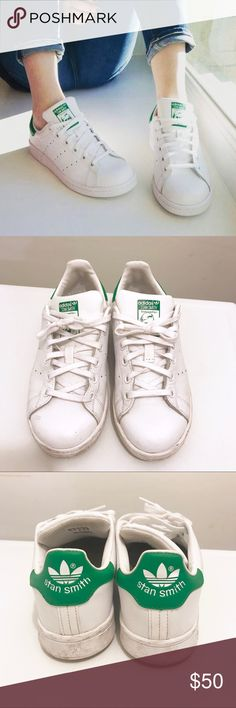 Adidas Stan Smith Sneakers Adidas Stan Smith original Sneakers. Size 3.5Y which fits a women's size 6. White and green. Only worn about twice. Make me an offer adidas Shoes
