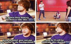 Siva dances the cutest way
