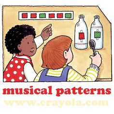 Musical Patterns Activity from Crayola - free lesson plans: this would be a great idea for students in my special education class