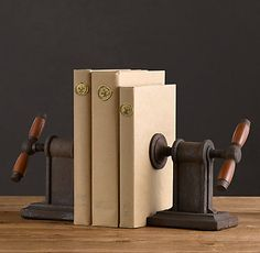 Vise Bookends.  Wouldn't that be fun!   Office & Storage | Restoration Hardware