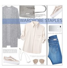 """Wardrobe Staples"" by dani-elan ❤ liked on Polyvore featuring Acne Studios, rag & bone, AG Adriano Goldschmied, Vans, Christian Dior and Kerr®"