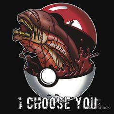 'Pokemon Xenomorph' T-Shirt by William Black Arte Alien, Alien Art, Aliens Funny, Aliens Movie, Alien Vs Predator, Funny Horror, Horror Art, Creepy Animals, Pokemon