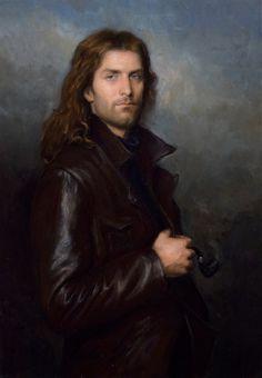 Matthew James Collins Boreas, oil on linen, 70cm x 110cm