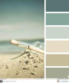 Beachy colors. Nice for a bedroom or bathroom. Flattering colors for a bathroom and relaxing for a bedroom.