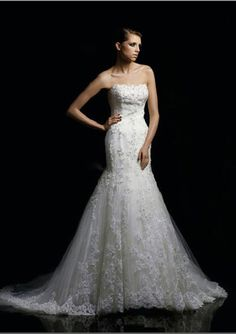 A-Line Sweetheart Chapel Train Satin Tulle Bridal Dresses,$228.99