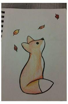Cute Easy Drawings, Art Drawings Sketches Simple, Pencil Art Drawings, Doodle Drawings, Cartoon Drawings, Drawing Ideas, Drawing Tips, Easy Drawings Of Animals, Easy Disney Drawings