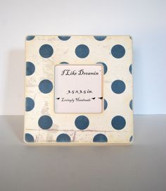 Blue polka Dots Picture Frame