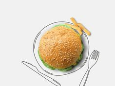 Dribbble - Burger landing by Octoberweb