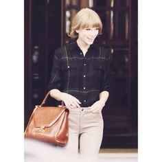 shirt purse bag flannel khaki taylor swift