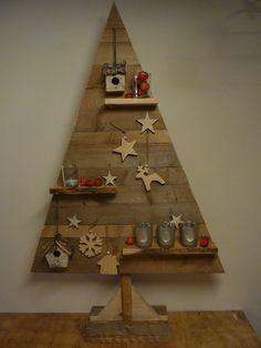 Houten kerstboom, wooden Christmas tree