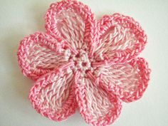 for a 6 petal, flat, trimmed crochet flower. When using crochet ...