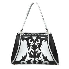 Monet Black and White Handbag | The Anthony Luciano Collection | Back At The Ranch | 2083