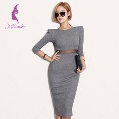 #clot #одежда #лето #платье #женщинам #women #office #fashion Офисное трикотажное платье-миди Подробнее: http://ali.pub/b76la