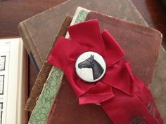 1938 horse show ribbon from Five Mile River Road