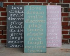 Playroom Rules Sign  Painted Wood Sign by by barnowlprimitives
