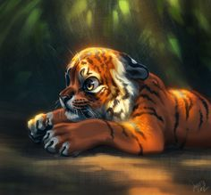Fantasy Animal Paintings That Show The Real Magic In The World Devin Elle Kurtz Big Cats Art, Furry Art, Cat Art, Fantasy Paintings, Fantasy Artwork, Animal Paintings, Wild Creatures, Fantasy Creatures, Mythical Creatures