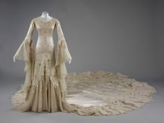 The spectacular 1933 Norman Hartnell wedding dress worn by Margaret Whigham, later Duchess of Argyll.