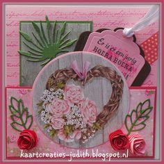 Marianne Design EWK1239 Country Style hearts PK9124 Rustic Wood PB7032 Eline's Flowers CS0940 Tekst achtergrond EC0162 Eline's Brush COL1362 Sneeuwbol CR1352 Labels CS0963 Liedje Er is er een jarig PT2315 Papertape Sweet dots LR0192 Leaves LR0227 Anja Leaves 2 LR0162 Engelse roos