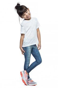 Calça Legging Infantil Original Denim • LIVE! • #shoponline #kids #legging #jeans