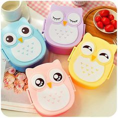 Shipping Food Contain Bento Box Owl Plastic Cute Cartoon Lunch Box Oven Heating For Kids #>=#>=#>=#>=#> Click on the pin to check out discount price, color, size, shipping, etc. Save and like it!