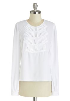 Dog Walk the Walk Top. Passersby will be howling with delight when you take to the sidewalk with your pack of pups and this classy white top! #white #modcloth