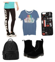 """""""STAR WARS!!!!"""" by brennamhaines ❤ liked on Polyvore featuring Junk Food Clothing and Dr. Martens"""