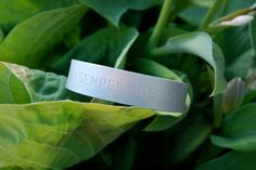 Recycled aluminium bracelet www.ideakoru.fi