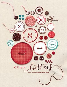 Buttons: buttons in print