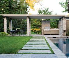 Photos : 10+ Jardins Magnifiques. Modern Outdoor KitchenOutdoor ...