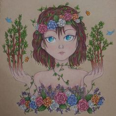 """""""Leiko's Garden"""" It's finally done! And I'm insanely proud of it right now! Done with prismacolor pencils prismacolor pens ans gelly roll pen on tan strathmore paper.  Story time! So for some odd reason I recently recalled a story I kept going back to when I was a kid (it was from Explorapedia if I'm not mistaking). It was about this kid that turned into a tree it described how his toes turned to roots his arms to branches his mouth sealed shut. To be honest it kind of terrified me but…"""