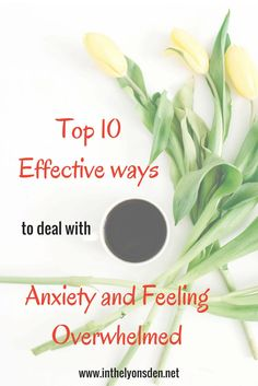 checklist of ways to deal with anxiety and feeling overwhelmed
