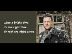 Jingle Bell Rock - Blake Shelton feat. Miranda Lambert (Lyrics on Screen)