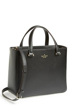 Free shipping and returns on kate spade new york 'park avenue sweetheart' leather crossbody tote at Nordstrom.com. Neat contrast piping edges a sleek, modern tote with a structured silhouette. Top handles and an optional, adjustable crossbody strap provide convenient carrying options.
