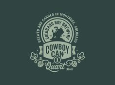 Colorado Boy Brewery - Cowboy Can Logo by Jared Jacob of Sunday Lounge